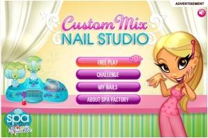 Game main menu
